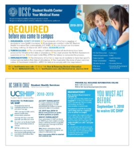 UCSC Student Health Services 11x6 mailer 2018