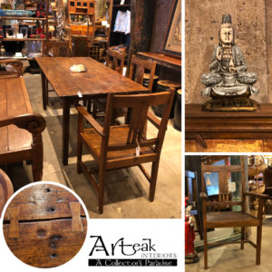 Arteak dining table and chairs