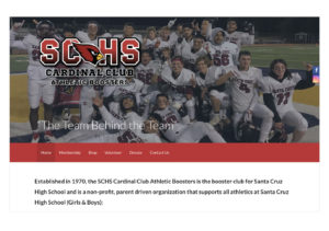 SCHS Cardinal Club Athletic-Booster site homepage image