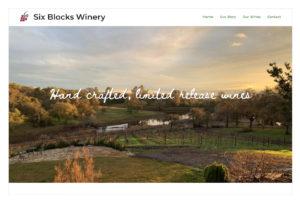 Six Blocks Winery site homepage
